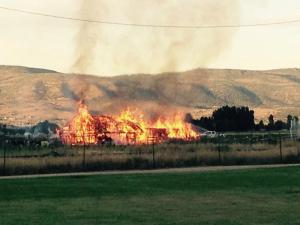 BARN FIRE July 31, 2015
