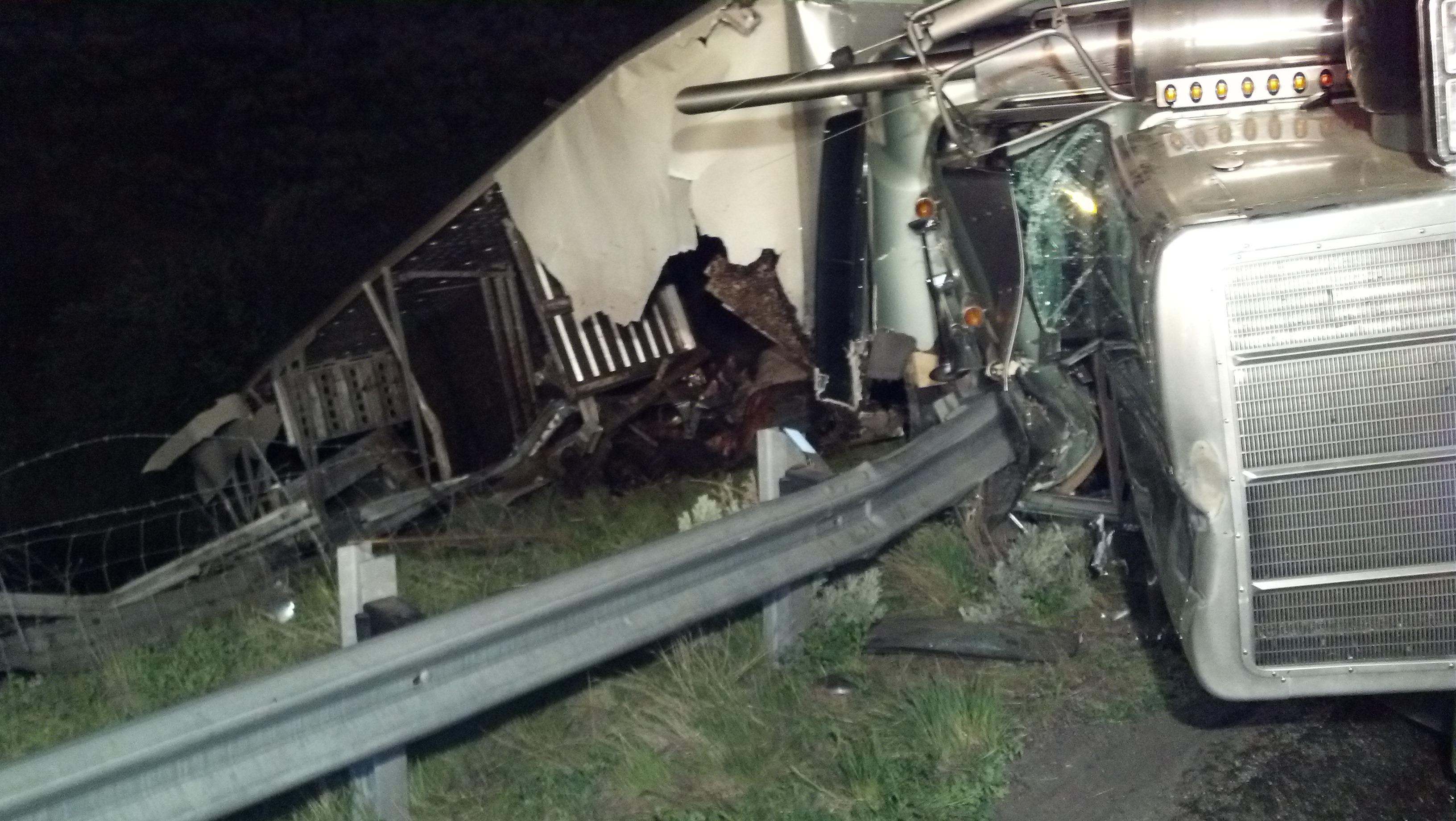 Cattle Truck Crash Wasatch County Fire